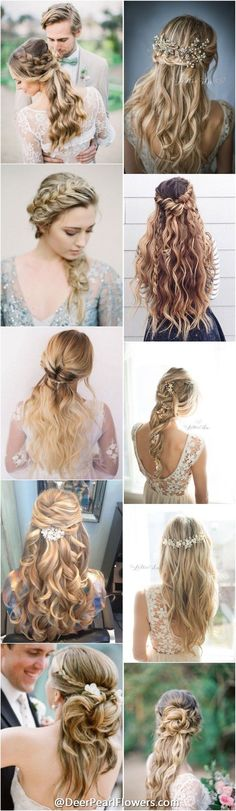 1000+ wedding hairstyles for long hair / http://deerpearlflowers.com/wedding-hairstyles/