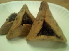 Making chocolate chip cookie dough hamentashen filled with dark chocolate truffle brownie?? Priceless.    I have a slight feeling these won't last until Purim [or make it through the night ;)]