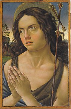 Raffaellino del Garbo - San Giovanni Battista - 1505 ca. - Museu Nacional d'Art de Catalunya, Barcellona