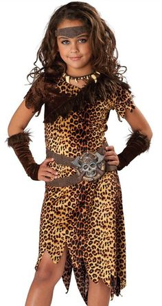 In Character New Girls Prehistoric Barbarian Cavewoman Costume XL