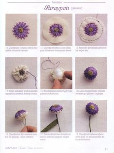 dimensional embroidered flower