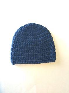 Dark Blue Hat  Baby Crochet Hat by SmittenInAMitten on Etsy