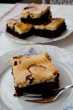 Krem Peynirli Brownie , Marbled Cream Cheese Brownies Best Brownie Recipe, Brownie Recipes, Cake Recipes, Dessert Recipes, Desserts, Blondie Brownies, Best Brownies, Cheesecake Brownies, Oreo Frosting