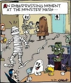 Halloween is coming! but here is the list of fresh Halloween memes, comics and jokes. Funny Cartoons, Funny Comics, Funny Jokes, Hilarious, Funny Animal Photos, Funny Images, Funny Pictures, Halloween Cartoons, Scary Halloween