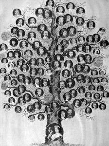 Queen Victoria's family tree, from the NEHGS Vita Brevis blog