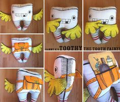Toothy the Tooth Fairy Plushie pattern kit by SammyK
