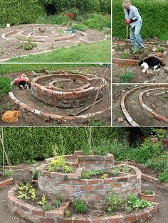 Garden Ideas With Bricks herb spiral made with recycled bricks - part of the enchanted food