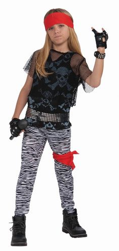 Time to rock 'n' roll like a rocker god in our Rock Star Boy Kids Costume. All your child needs is the glam rock attitude and the big hair while they play that air guitar wildly! Our kids Rock Star Boy Costume includes a wide red headscarf,cropped Punk Rocker Costume, Rock Costume, 80s Costume, Up Costumes, Boy Halloween Costumes, Star Costume, Costume Ideas, Decades Costumes, Referee Costume