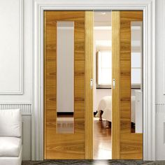 Double Pocket Brisa Mistral Oak sliding door system in three size widths with clear glass. #internalpocketdoors #internalroomiders #slidingdoors & Nice looking internal sliding doors to consider called Corinthian ...