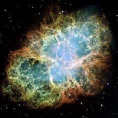 This is a Hubble image of the Crab Nebula — a beautiful look at what remains after a star explodes and goes supernova. In 1998, both teams announced that the expansion rate was accelerating. This discovery led to the 2012 Physics Nobel Prize.  Read more: http://www.businessinsider.com/hubble-images-show-universes-secrets-2014-10?op=1#ixzz3Ip78ihQL