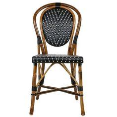 Black & White Mediterranean Bistro Chair (L)