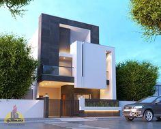Modern House Facades, Modern Exterior House Designs, Modern Architecture House, Dream House Exterior, Modern House Design, Cultural Architecture, Duplex House Design, House Front Design, Home Building Design