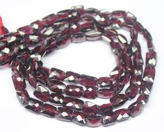 Rhodolite Garnet Faceted Rectangle Cube Beads strand – Jewels Exports