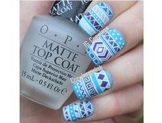 Azteckie wzorki na paznokcie - odświeżamy trend na lato - Strona 12