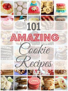 101 Amazing Cookie Recipes #Recipe #Cookies