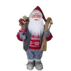 Dekorácia Santa stojaci, 45 cm, s lyžami Ronald Mcdonald, Elf, Santa, Fictional Characters, Interiors, Figurine, Elves, Fantasy Characters, Fairy