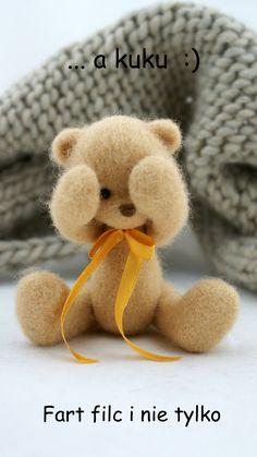 *NEEDLE FELTED ART ~ Poland hand made felt ooak teddybear