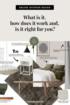 Online Interior Design: What is it and How Does it Work? | The Gem Picker Headboard Cover, Concept Board, Classic Interior, Does It Work, Design Your Home, Interior Design Services, Linen Fabric, Service Design, Building A House