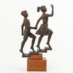 Bronze Figur Bronzeskulptur Statue Abstrakt Frau Dame Lady Girl Modern-Stil