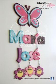 Diy Letters, Painted Letters, Wooden Letters, Baby Shawer, Baby Art, Name Decorations, Party Frame, Baby Shower Crafts, Butterfly Party