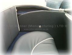 BN4 (L) & BT7 - Rear Seat & Wheelarch Quarter Panel - Dark Blue - Leatherfaced & Vinyl