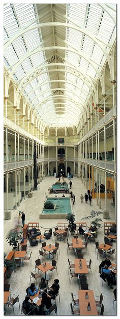 The cafe in the National Museum Of Scotland. What a beautiful building to enjoy a coffee and scone in!