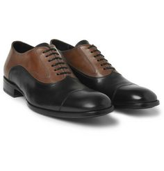 Alexander McQueenTwo-Tone Leather Oxford Shoes