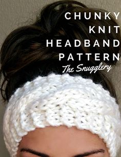 Free Chunky Cable Knit Headband Pattern This is a super simple pattern using super bulky yarn. I recommend wool or a wool blend yarn like Wool-Ease Thick & Quick from Lion Brand for added stretch. Loom Knitting, Knitting Patterns Free, Free Knitting, Crochet Patterns, Vogue Knitting, Knitting And Crocheting, Pattern Sewing, Loom Patterns, Knitting Ideas