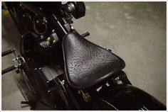Embossed leather saddle by Rich Phillips