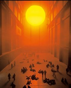 Indoor sunset? It can only be Olafur Eliasson's installation at The Tate Modern entitled 'The Weather Project'