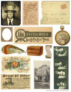 Free Vintage Graphics Collage Sheet - No. 4