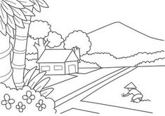 Home Drawing Coloring Pages 36 Trendy Ideas Small Photography Studio, Fire Photography, Winter Photography, Abstract Photography, Family Portrait Photography, Colouring Pages, Coloring Pages For Kids, Landscape Art Lessons, Motif Simple