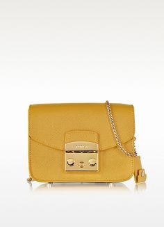 Metropolis Amber Leather Shoulder Bag - Furla