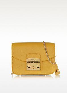 Metropolis Amber Leather Shoulder Bag - Furla
