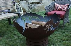 Never Rust Out! This Mustang Freedom Hand Crafted fire pit bowl is guaranteed to last a lifetime made here in the USA - Free Shipping! 20005 Fire Pit Art, Fire Pit Bowl, Fire Bowls, Fire Pit Dimensions, Rustic Fire Pits, Copper Frame, Wood Burning Fires, Fire Table, Patina Finish
