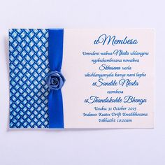 19 Luxury Umembeso Invitation Card Image - When you are planning to hold a celebration like marriage ceremony, anniversary, birthday, and other special Traditional Wedding Decor, Traditional Wedding Invitations, Navy Wedding Invitations, Photo Invitations, Wedding Invitation Templates, Invitation Design, Traditional Dresses, Invitation Card Printing, Invitation Examples
