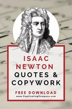 Using Isaac Newton Quotes & Copywork in your homeschool will create an opportunity to better understand Isaac Newton's unique personality, religious devotion, and scientific genius. Get your FREE download. Steam Activities, Science Activities, Newton Quotes, Fun Printables For Kids, Homeschool Curriculum, Homeschooling, History For Kids, Stem For Kids, Isaac Newton