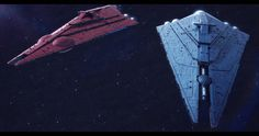 The Rothana Heavy Engineering Imperator-II Star Destroyers Basilisk and Chimaera. Imperator-II Star Destroyers Basilisk and Chimaera Nave Star Wars, Star Wars Rpg, Star Wars Ships, Star Trek, Star Wars Fan Art, Star Wars Concept Art, Star Destroyer, Constellations, Star Wars Spaceships