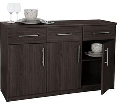 Buy HOME Anderson 3 Door 3 Drawer Sideboard - Black at Argos.co.uk, visit Argos.co.uk to shop online for Sideboards and chest of drawers, Coffee tables, sideboards and display units, Home and garden