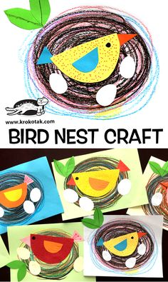 Krokotak how to make bird nest craft craftsforkids kidcrafts birdnest springcraftsforkidsUpgrade Cabinet Makeover with DIY crown moulding and chalky finishand grade fast projectchildren activities, more than 2000 coloring pagesLittles Spring art project Kids Crafts, Spring Crafts For Kids, Art For Kids, Art Children, Baby Crafts, Spring Art Projects, Projects For Kids, Kindergarten Art, Preschool Crafts