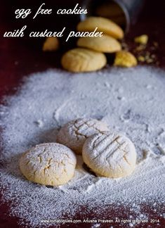 Custard Powder Cookies are simple and egg free cookies that can easily be made with simple ingredients. Makes great gifts.
