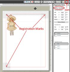 Digital Scrapbooking Tutorial: Make sure your element is within the Silhouette's registration mark lines.