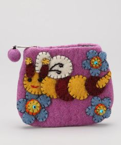 Take a look at this Lavender Honeybee Coin Purse by Bubblegum Diva on #zulily today!