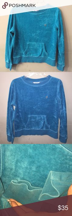 Lilly Pulitzer top Blue excellent used condition siE medium Thierry cloth top with front pockets Lilly Pulitzer Tops Sweatshirts & Hoodies