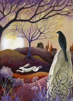 The Hare and the Crow (by Amanda Clark).  I so love nature and birds and bunnies are awesome.  My animal familiars are the Owl and the Hawk.