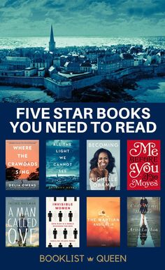 If you want the best of the best, these five star books won't disappoint. Here are 50 of my all-time favorite books to read. Best Books To Read, Good Books, Book Club Books, Book Lists, Invisible Woman, Five Star, The Martian, Historical Fiction, Fiction Books