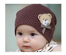 Baby Cap Unisex Kids Hats With Bear Boys Cotton Beanie Infant Hat Children Photography Accessories