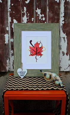 The Red Leaf of Fall by CorbanStudioWorks on Etsy. Available in 8x10 and matted 11x14.
