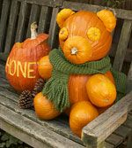 Skip the traditional pumpkin carving and create fabulous creatures with gourds and pumpkins.