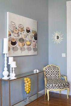 The Best Benjamin Moore Paint Colors A's room November Skies Foyer Design, House Design, Blue Wall Colors, Paint Colors, Colours, Luxury Interior Design, Interior Paint, Benjamin Moore Blue, Blue Walls